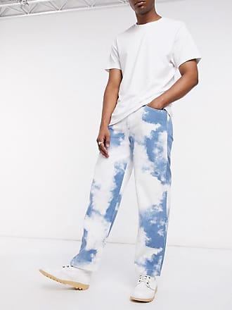 Jaded London Jaded cloud print skate jeans-Blue