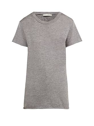 Queene and Belle Queene And Belle - Cashmere And Silk Jersey T Shirt - Womens - Grey