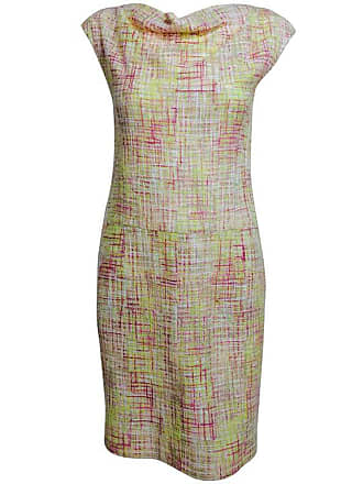 Chanel Vintage Chanel Yellow, Pink   Cream Tweed Sleeveless Shift Dress 1998 f4c5504bef