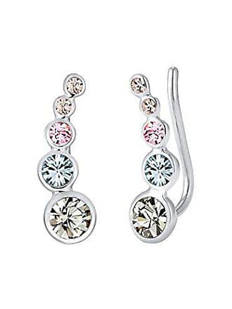 Elli Damen Ohrringe Earcuff Kreis Geo Swarovski Kristalle in 925 Sterling  Silber 1a0f8410d2