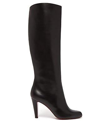 205bc61715 Christian Louboutin Marmara 85 Leather Knee High Boots - Womens - Black