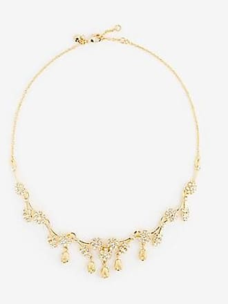 ANN TAYLOR Pave Flower Necklace
