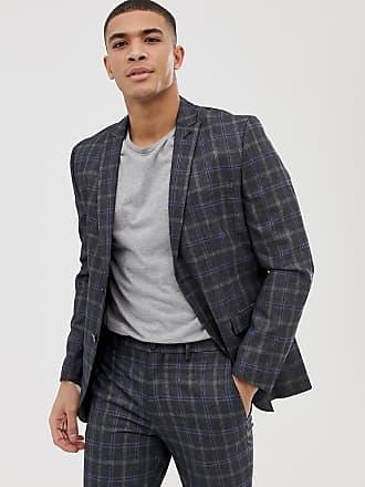 b885196ef24525 Jack   Jones Premium - Karierte Anzugsjacke in schmaler Passform - Grau