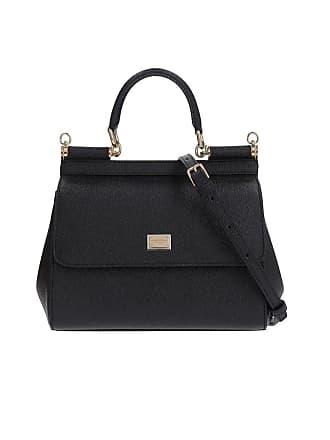9eb3a3f0fe Dolce & Gabbana WOMENS BB6003A100180999 BLACK LEATHER HANDBAG