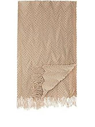Barneys New York Picasso Herringbone-Pleated Cashmere Throw - Lt. brown