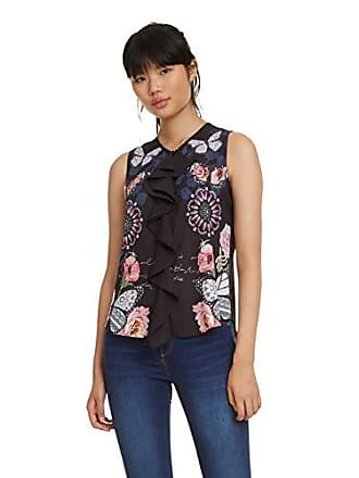 a4321a12d2 Desigual Blouse Sleeveless Ginebra Woman Black
