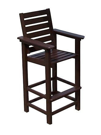POLYWOOD Outdoor POLYWOOD Captain Recycled Plastic Bar Stool Hunter Green - CCB30GR