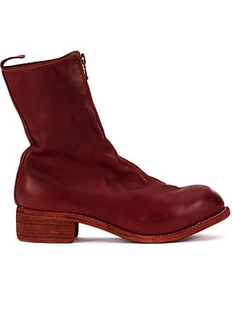 Guidi zip-up fitted boots - Vermelho