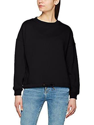 4628a57269921 Urban Classics Ladies Oversized Crew, Sweat-Shirt Femme, Noir (7),