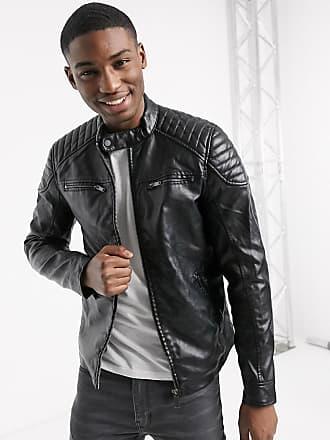 River Island pu biker jacket in black