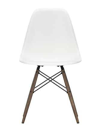 Vitra DSW Plastic Side Chair Dark Maple Base