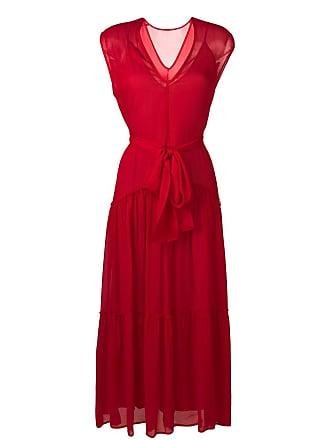 8pm tie waist dress - Red