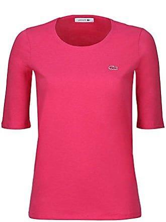 Lacoste TF5621 Klassisches Damen Basic T-Shirt, Rundhals, 3 4 Arm, 9d0d5ed1b8