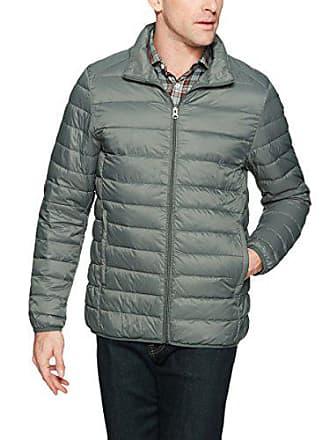 Amazon Essentials Mens Lightweight Water-Resistant Packable Down Jacket, Grey, Large