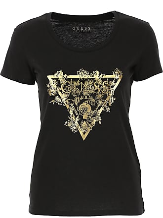 537c1f614e0abd Guess T-Shirt Donna On Sale, Nero, Cotone, 2017, 40