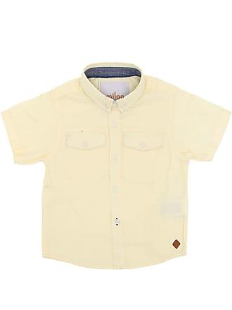 7d42fb349b Milon Camisa Milon Manga Curta Menino Amarela