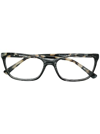 Etnia Barcelona Armação de óculos tartaruga retangular - Preto