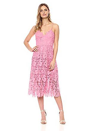 1a051ec676d6 Donna Morgan Womens Chemical Lace Spaghetti Strap Midi Dress, Pink Sherbet,  12