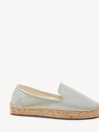 Soludos Womens Platform Smoking Slippers Espadrille Chambray Size 6.5 Canvas From Sole Society