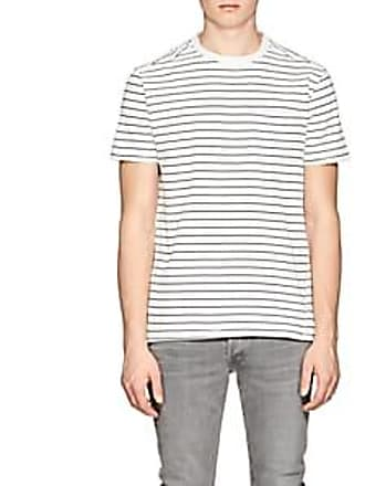 26ee4990af5e08 Barneys New York Mens Striped Cotton Jersey T-Shirt - White Size XL