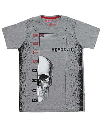 Gangster Camiseta Gangster Menino Frontal Cinza