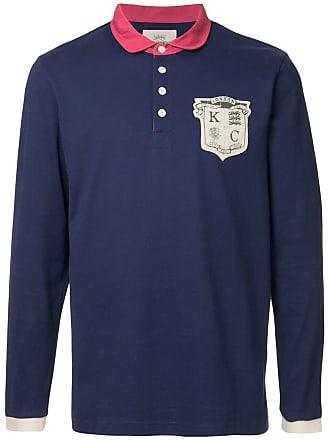Kent & Curwen long-sleeved logo polo shirt - Purple