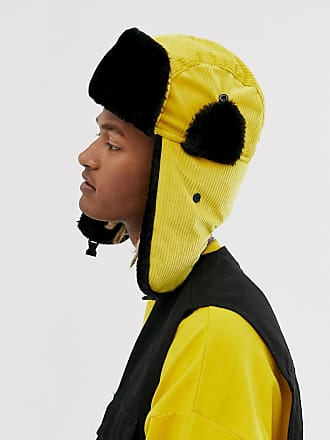 7X SVNX trapper hat in cord-Yellow