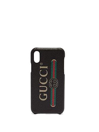 2f8e799d96d8 Gucci Vintage Logo Leather Iphone X Case - Mens - Black