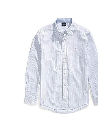 d0519cda4 Tommy Hilfiger Mens Adaptive Magnetic Long Sleeve Button Down Shirt Custom  Fit, Light Blue,