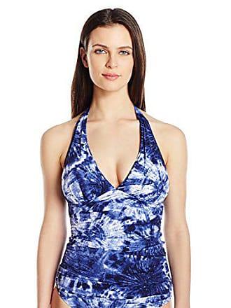 2daf44379d Bleu Rod Beattie Womens Get Wet Halter Tankini Top, Midnight Bleu, 4