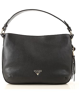 3ed4e7007 Guess Shoulder Bag for Women On Sale, Black, Leather, 2017, one size