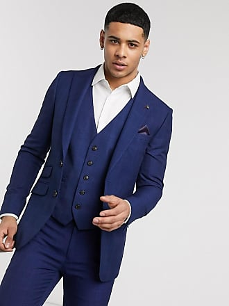 Burton Menswear skinny suit jacket in navy check