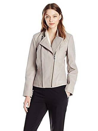 9e1e10a03be4 T Tahari Womens Carry Double Zipper Assymetrical Leather Jacket, Bamboo S