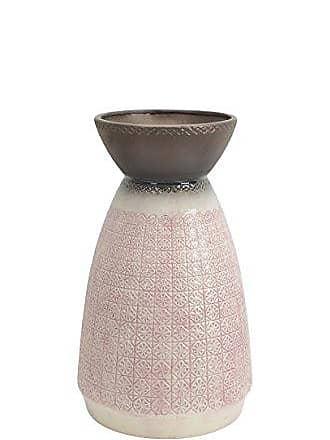 Sagebrook Home 12210-04 Decorative Ceramic Vase, Old Rose Ceramic, 14 x 14 x 27.25 Inches