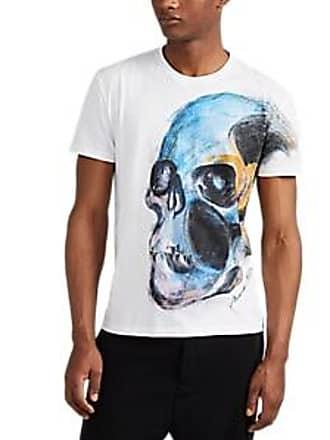 0c68083ec800 Alexander McQueen Mens Skull-Graphic Cotton T-Shirt - White Size L