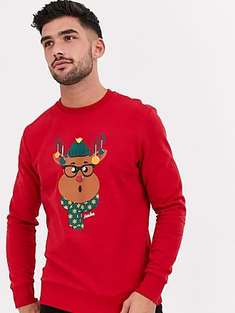 Jack & Jones Originals - Kerstsweater met rendierprint in rood