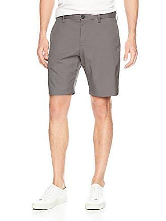 Perry Ellis Mens Slim Fit Stretch Solid Iridescent Short, Castlerock, 36