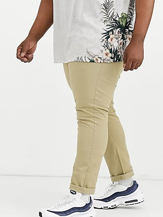 Burton Menswear Big & Tall slim chinos in stone