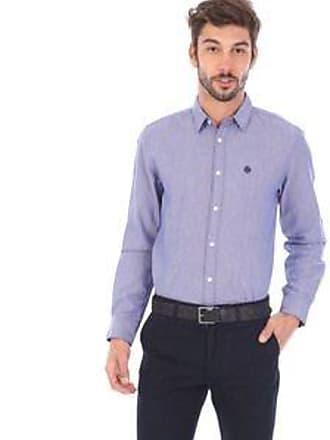 Springfield Camisa con Tejido Bicolor con Acabado Mate<br>Azul y Blanco<br>Custom Fit