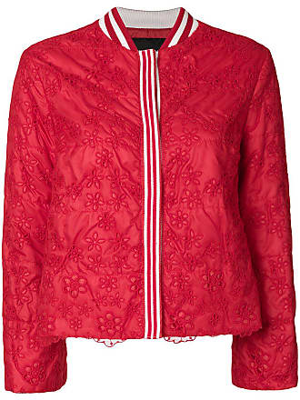 Ermanno cropped lace jacket - Red