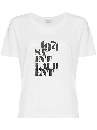 65306aca97bec Saint Laurent 1974 logo print cotton short sleeve t shirt - White