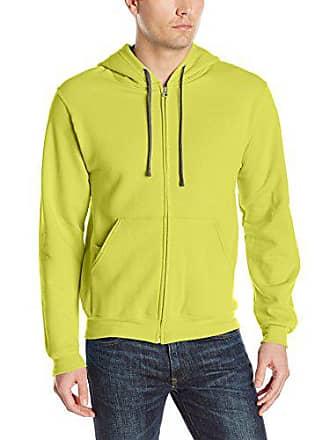 Fruit Of The Loom Mens Full-Zip Hooded Sweatshirt, Citrus Green, Medium