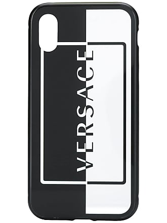 Versace logo printed iPhone X case - Neutro