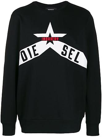 Diesel Printed cotton-fleece sweatshirt - Black