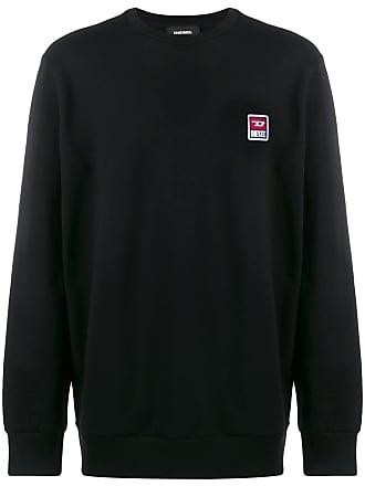 Diesel 90s logo patch sweatshirt - Black