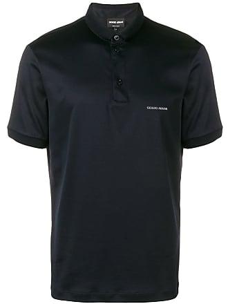 Giorgio Armani chest logo polo shirt - Blue