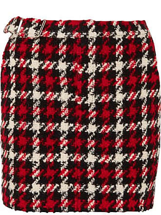 McQ by Alexander McQueen Wool-blend Bouclé Mini Skirt - Red