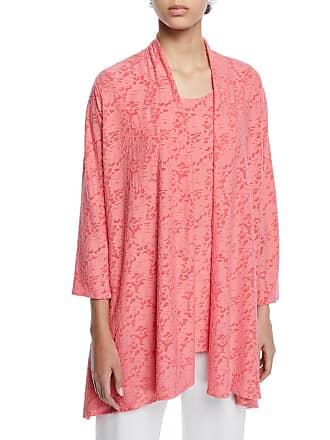 f0a10519 Caroline Rose Plus Size Rose Garden 3/4-Sleeve Side-Fall Cardigan