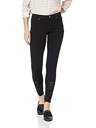 bf96faaac26cb3 Hue Womens Fashion Denim Leggings, Assorted, shredded hem/black M