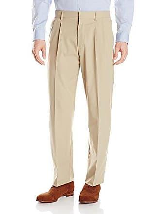Dockers Mens Prestige Khaki Classic Fit Pleat Pant, Dockers Khaki, 40W x 30L